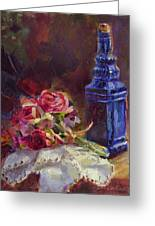 Finer Things Still Life By Karen Whitworth Greeting Card