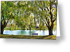 Finger Lakes Weeping Willows Greeting Card