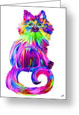Finger Painted Cat Too Painting By Nick Gustafson