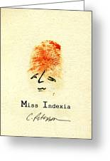 Finger Prints 1998 Forensic Whimsy Miss Indexia Greeting Card