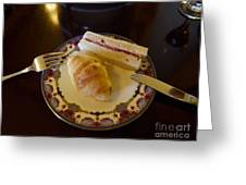 Finger Sandwiches For Traditional Afternoon Tea Greeting Card