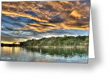 Fingers Of Flame.  Sunset Greeting Card
