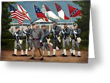 Finley's Brigade Greeting Card by Deborah Allison