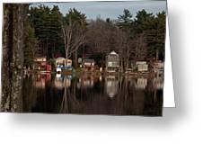 Finn Village On Demond Pond - Rutland Massachusetts Greeting Card