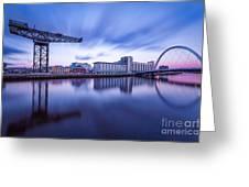 Finnieston Crane And Glasgow Arc Greeting Card by John Farnan