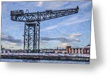 Finnieston Crane Glasgow Greeting Card