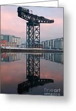 Finnieston Crane Reflections Greeting Card