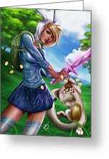 Fionna And Cake Greeting Card