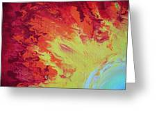 Fire And Glory Greeting Card