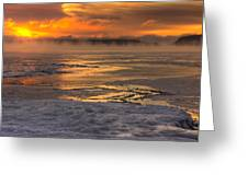 Fire And Ice Cropped Greeting Card