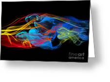 Fire And Ice Smoke  Greeting Card