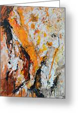 Fire And Passion - Abstract Greeting Card by Ismeta Gruenwald