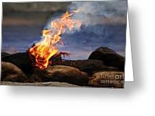 Fire And Smoke Greeting Card