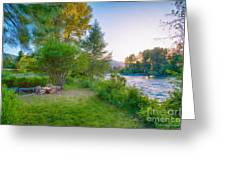 Fire And Water At Cottonwood Cottage Greeting Card