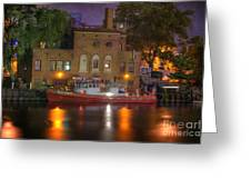 Fire Boat On Cuyahoga River Greeting Card