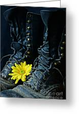 Fire Boots Hdr Greeting Card