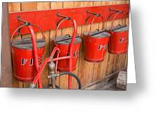 Fire Buckets Greeting Card