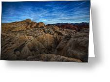 Fire Canyon Twilight Greeting Card