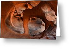 Fire Cave Windstone Arch Nevada Greeting Card
