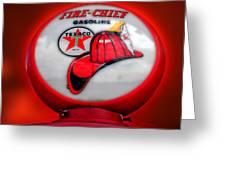 Fire Chief Gasoline Globe Greeting Card