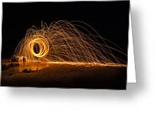 Fire Circle Greeting Card by Tin Lung Chao