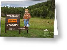 Fire Danger Sign  Greeting Card