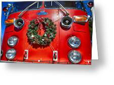 Fire Department Christmas 1 Greeting Card