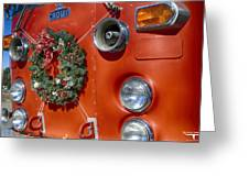 Fire Department Christmas 2 Greeting Card