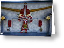 Fire Department Christmas 3 Greeting Card