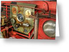 Fire Department Tanker Controls Greeting Card