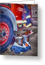 Fire Engine - Firemen - Equipment Greeting Card