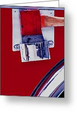 Fire Engine Red And Chrome Greeting Card