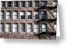 Fire Escape Greeting Card
