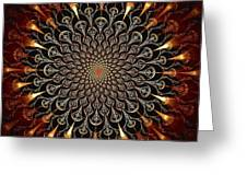 Fire Glyph Greeting Card