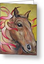 Fire Horse Greeting Card