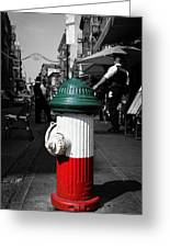 Fire Hydrant From Little Italy Greeting Card