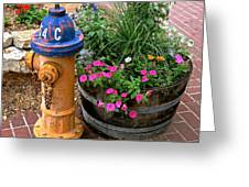 Fire Hydrant With Flowers Greeting Card