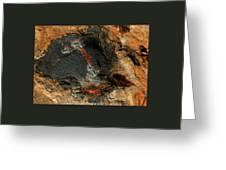Fire In The Rock. Greeting Card