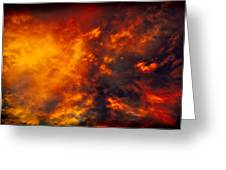 Fire In The Skies Greeting Card