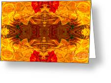 Fire In The Sky Abstract Pattern Artwork Greeting Card