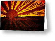 Fire In The Sky Greeting Card by Brenda Bryant