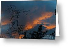 Fire In The Sky Greeting Card