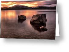 Fire In The Sky Loch Lomond Greeting Card