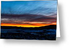 Fire In The Sky - Steamboat Sunset Greeting Card
