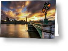 Fire In The Sky Greeting Card by Yhun Suarez