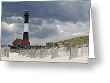 Fire Island Light From The Beach Greeting Card