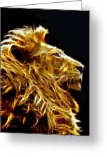 Fire Lion Greeting Card