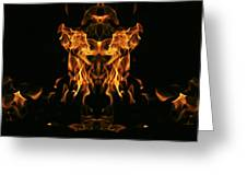 Fire Monster Greeting Card