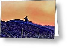 Fire On The Dunes Greeting Card by Tony Reddington