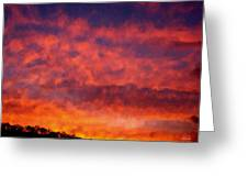 Fire On The Hillside Greeting Card